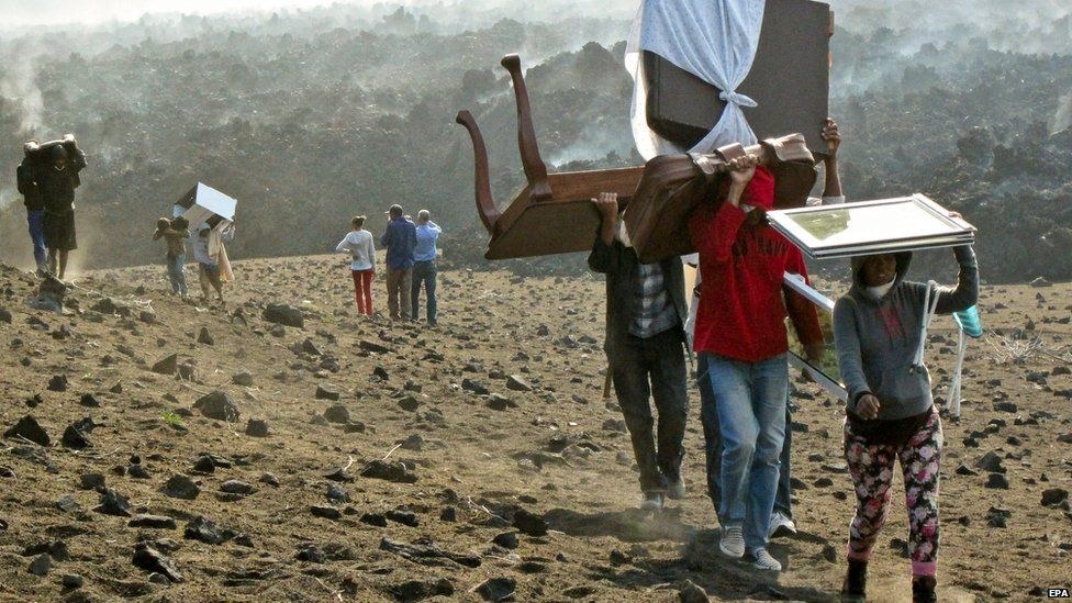 Residents of Fogo leaving area of volcano