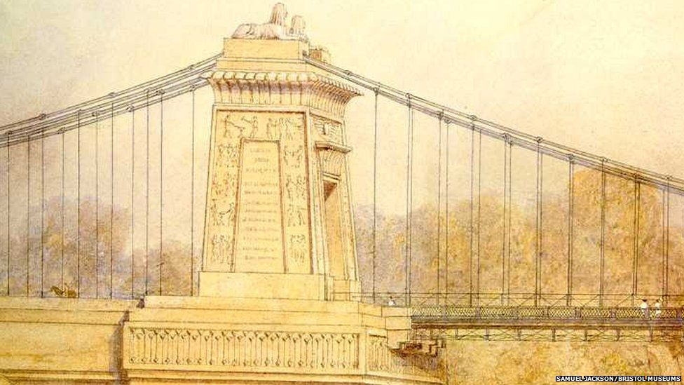 Clifton Suspension Bridge - with sphinxes