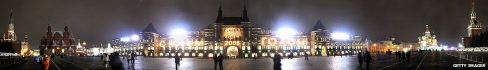Red Square at New Year 2005