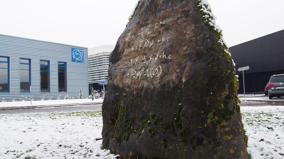 Standard Model monument at CERN
