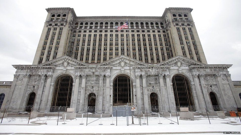 Michigan Central Station in February 2013