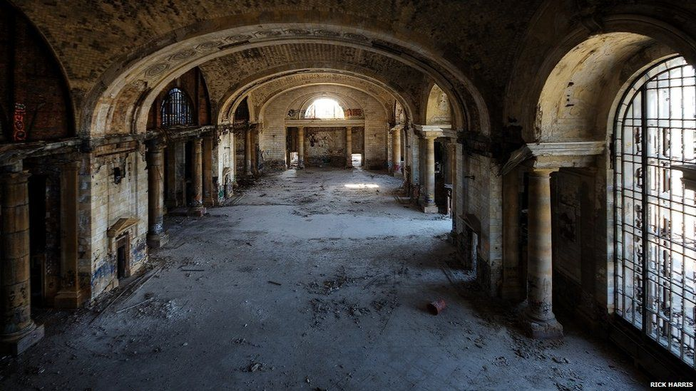 Michigan Central Station in June 2009.
