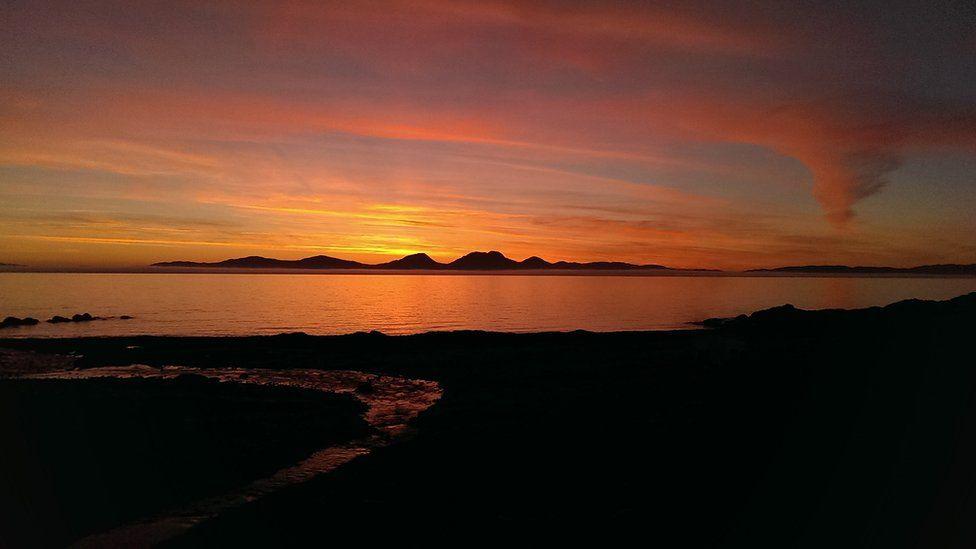 Sunset over Jura