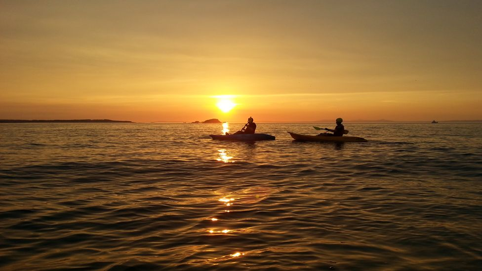 Kayaks on Firth of Forth