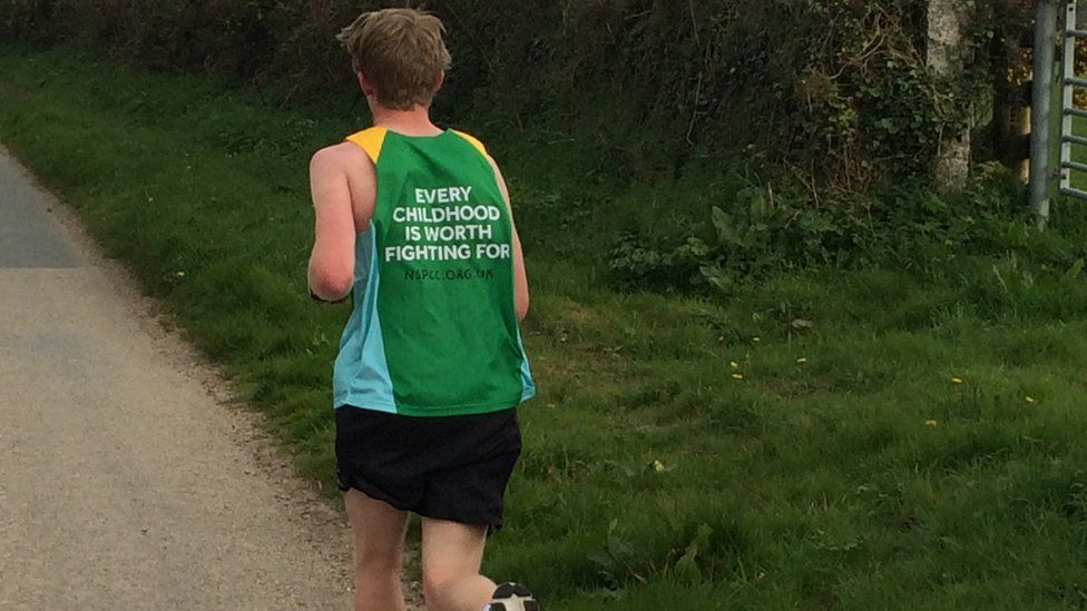 Jonny Innes will be the youngest runner at the London Marathon