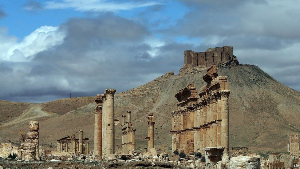 File picture of Palmyra's ruins