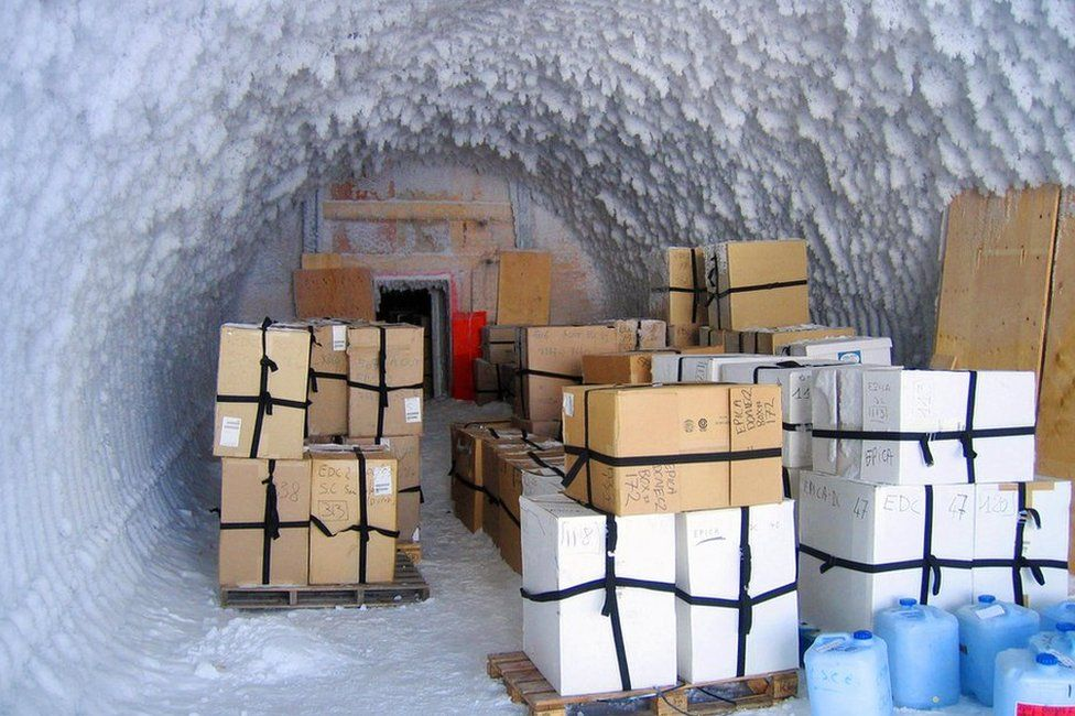 Snow cave at Concordia Research Station