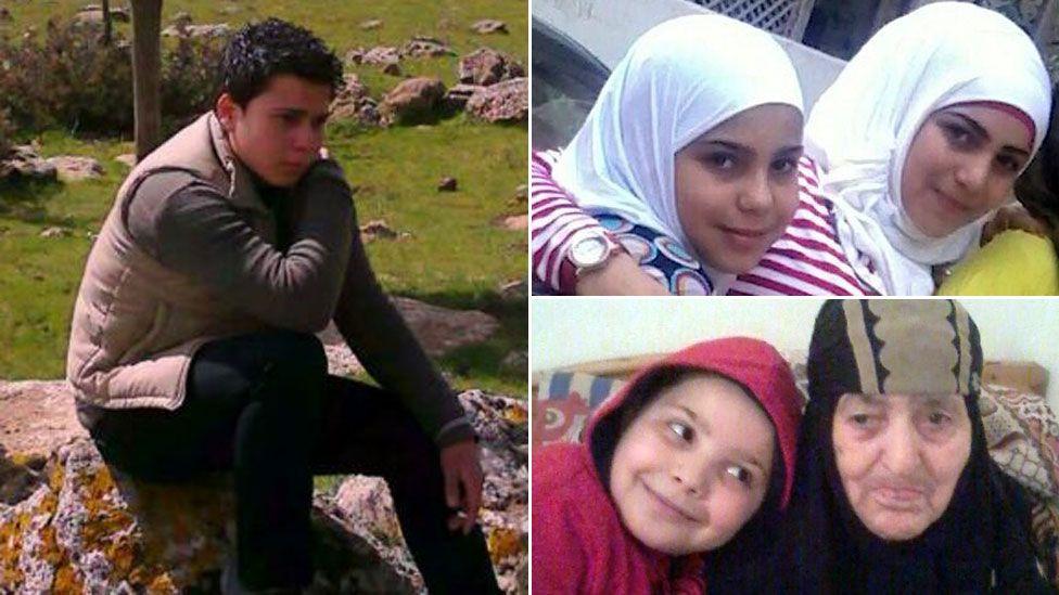 Om Motasem and husband Abu Nimr's children