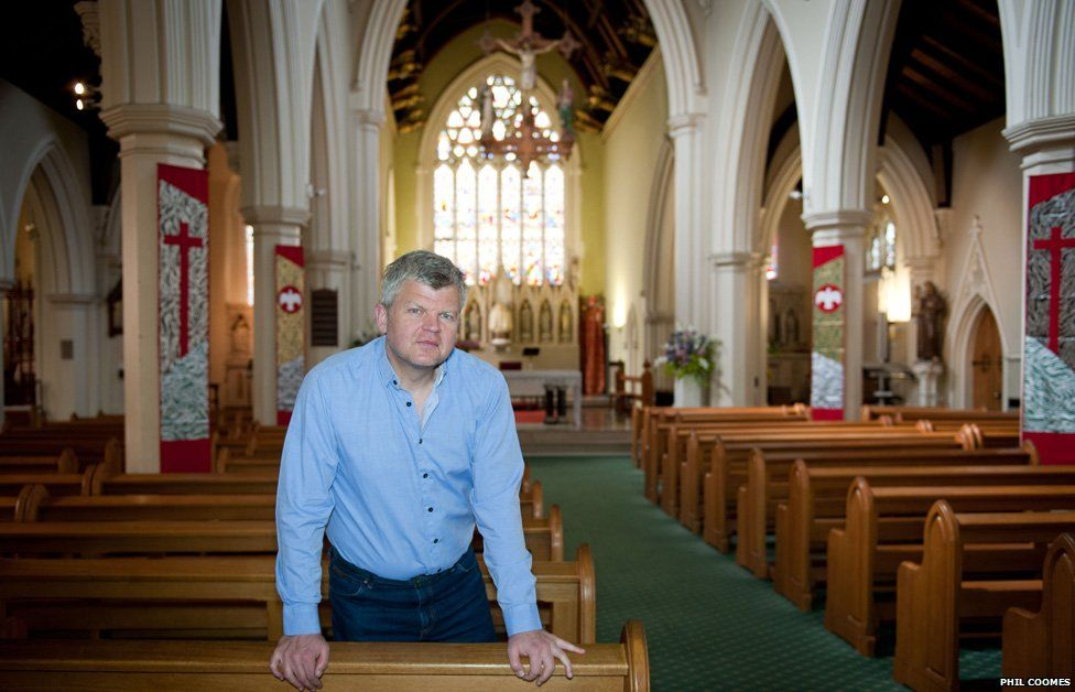 Adrian Chiles at Holy Trinity Church in Brook Green