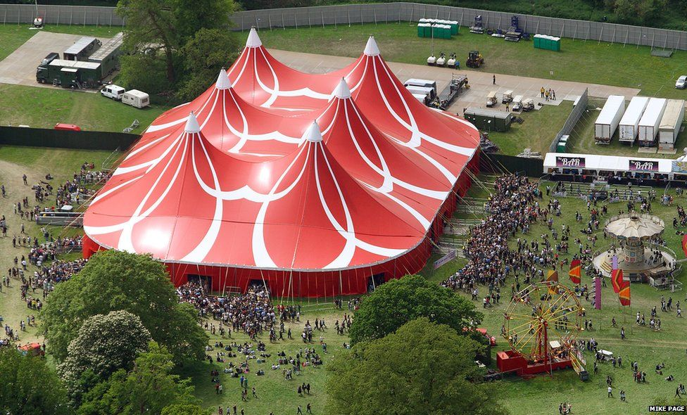 In New Music We Trust tent at Big Weekend