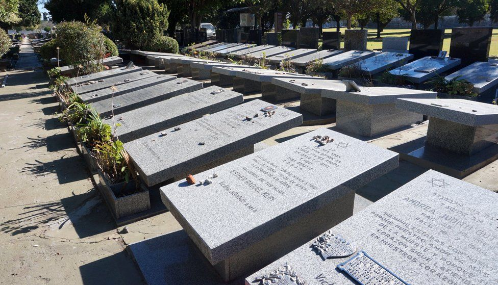 Graves of people who died in the AMIA bomb