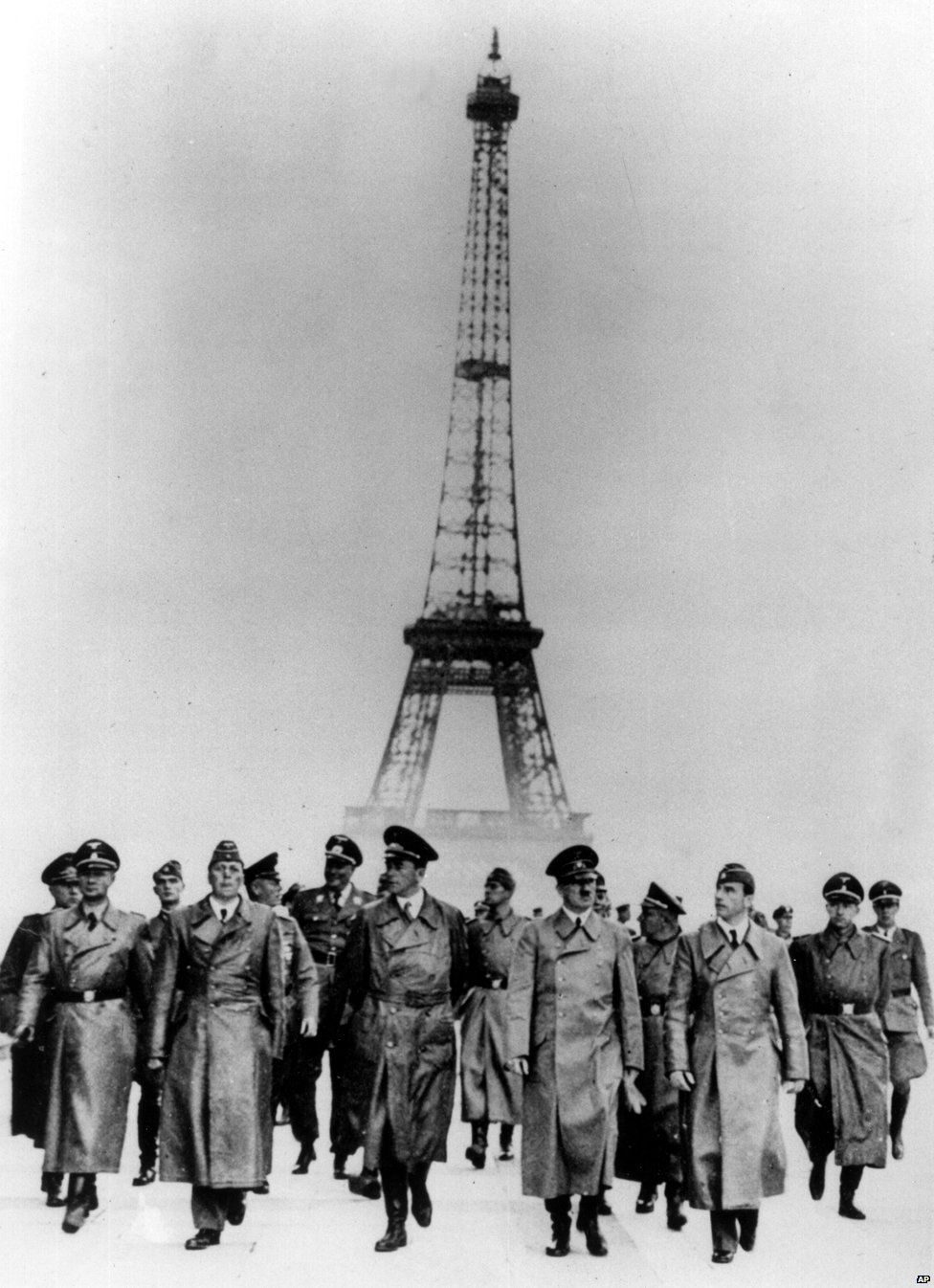 Hitler walks through Paris, 1940