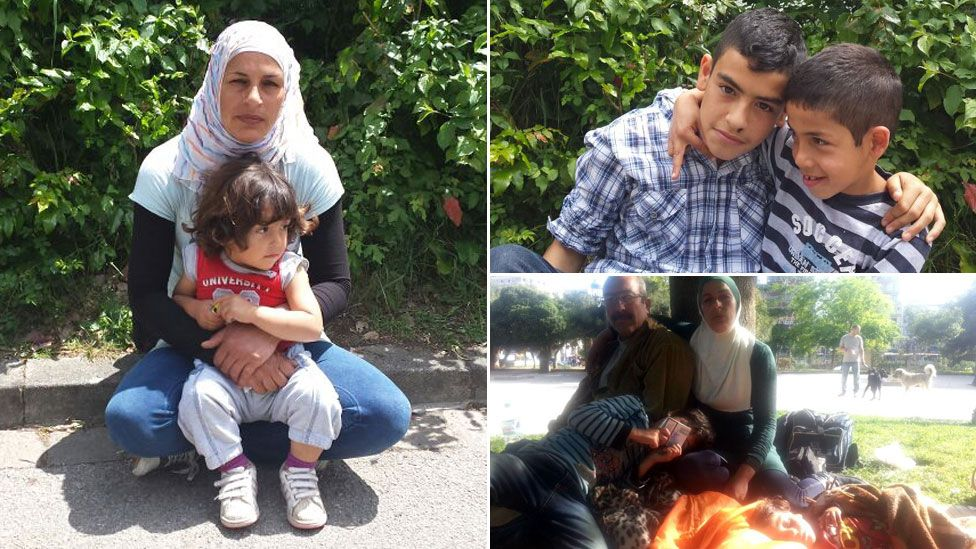 Ahmed, Latifah and their three young sons who fled Syria for Europe