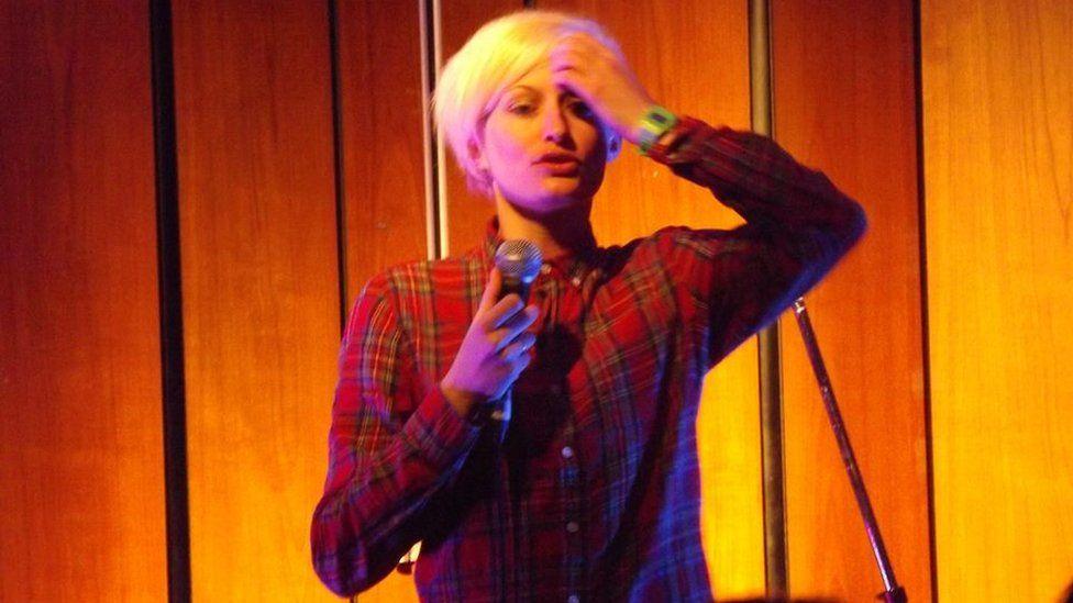 Harriet Dyer on stage