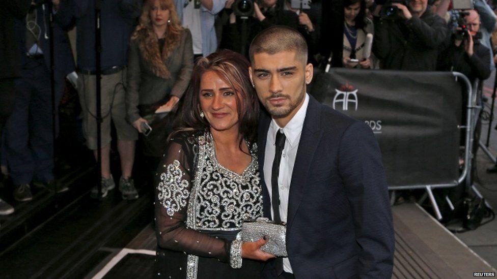 Zayn Malik with his mum