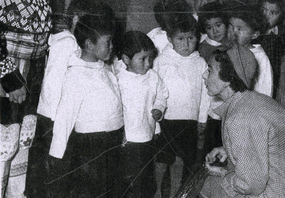 Queen of Denmark visits camp