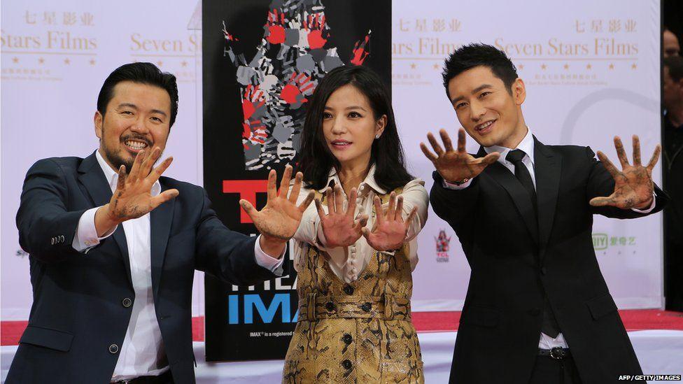 Justin Lin, Zhao Wei and Huang Xiaoming