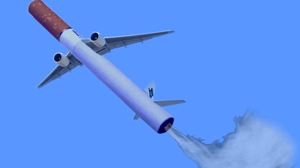 A flying cigarette.
