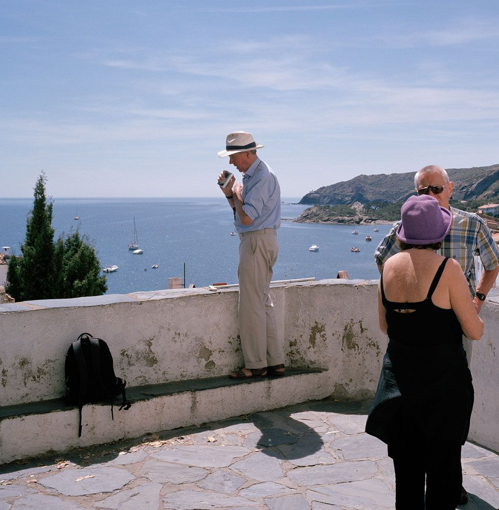 Sargy with dictaphone in Cadaques