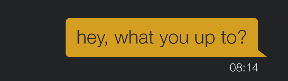 Grindr message saying what you up to