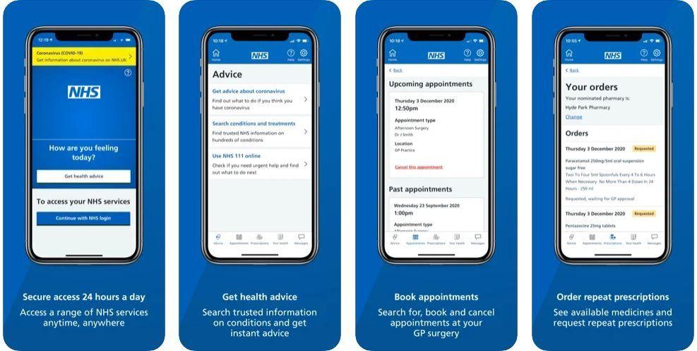 NHS App on the Apple App Store