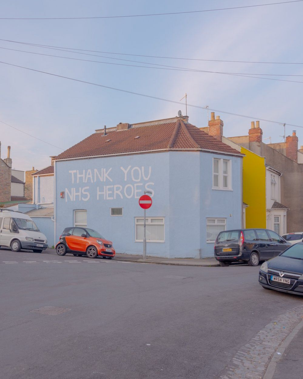 NHS Mural on a house