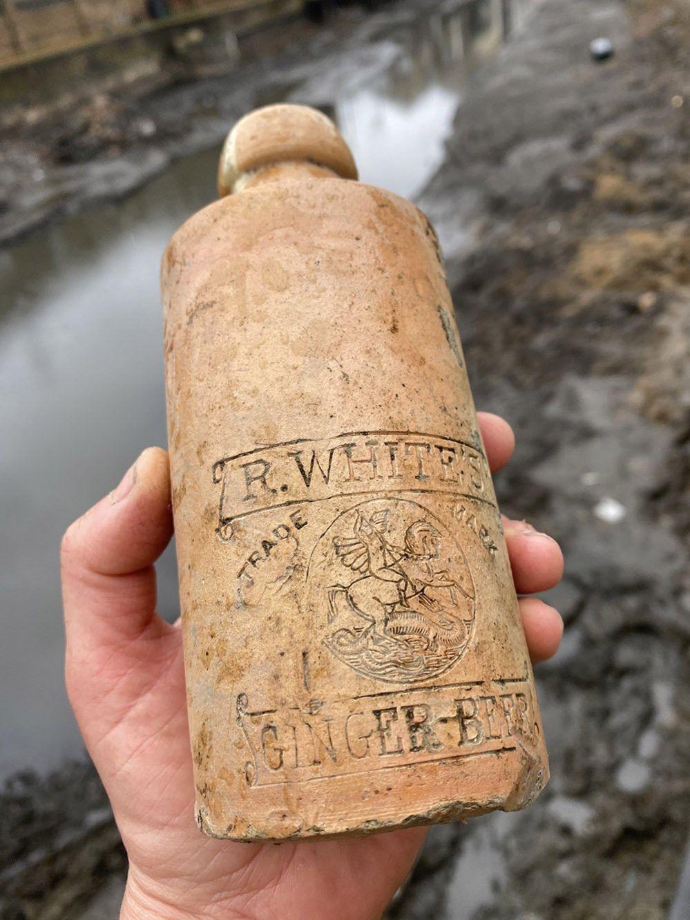 R White's ginger beer bottle