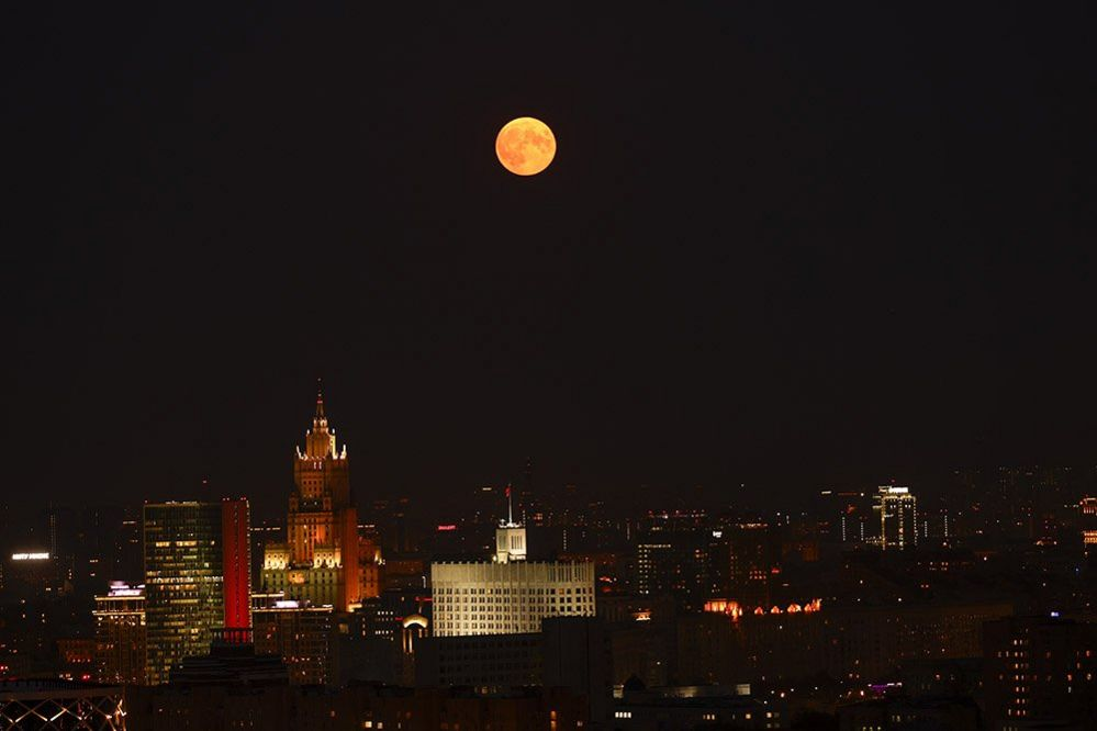 The moon above Moscow