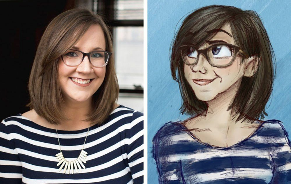 Dani Donovan and an illustration of her