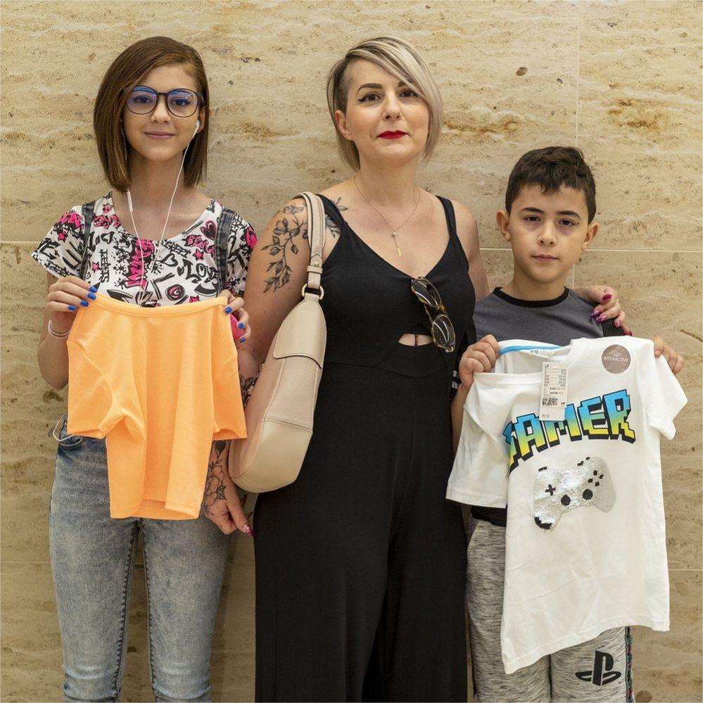 Erika Stara and her children Rebecca and Marco