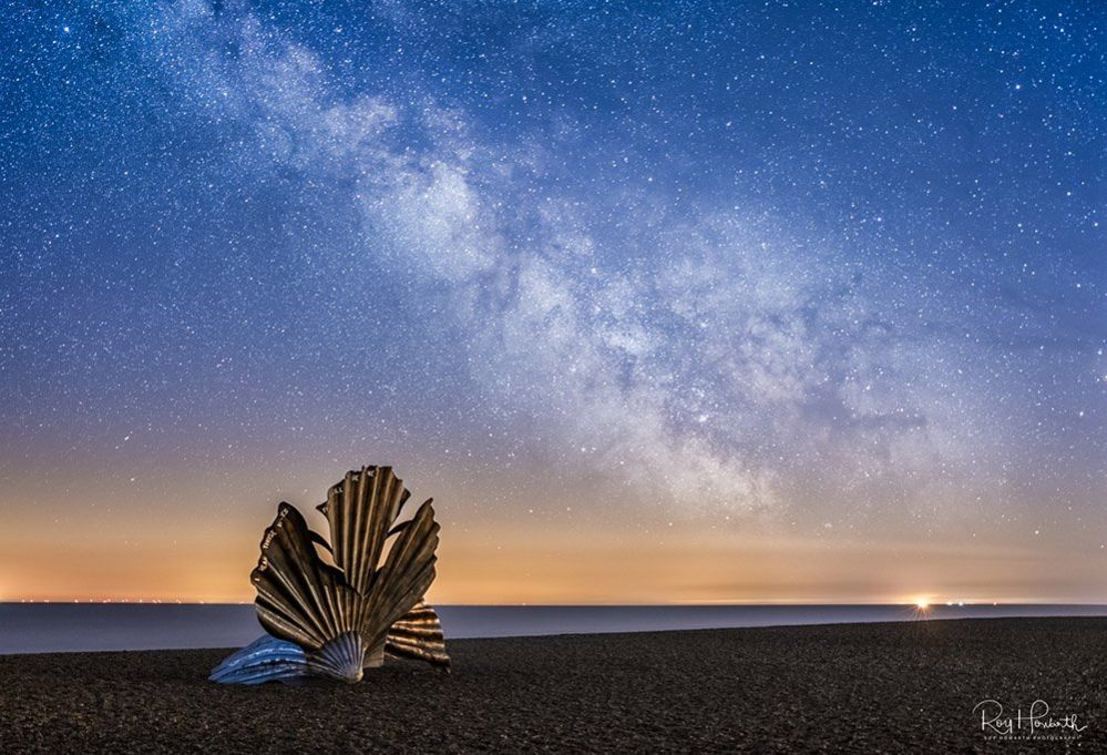 The Scallop is at Aldeburgh in Suffolk