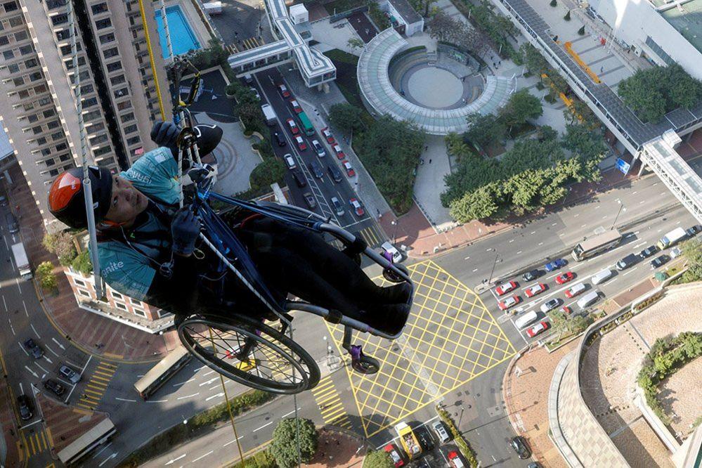 Lai Chi-wai climbing tower