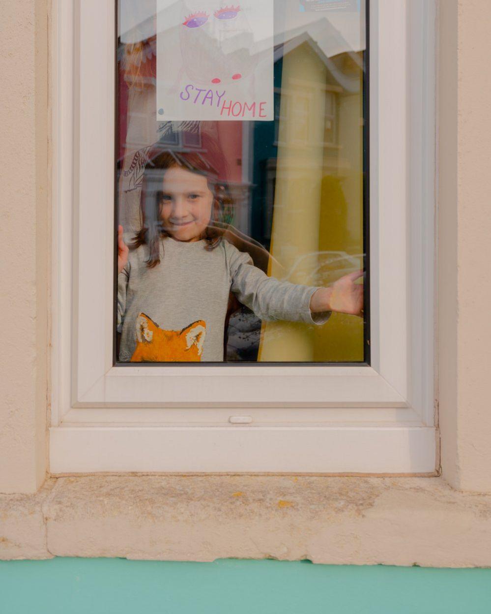 Freida at the window