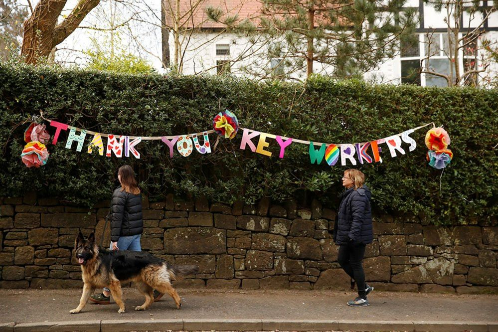 Thank you to key workers sign in Manchester