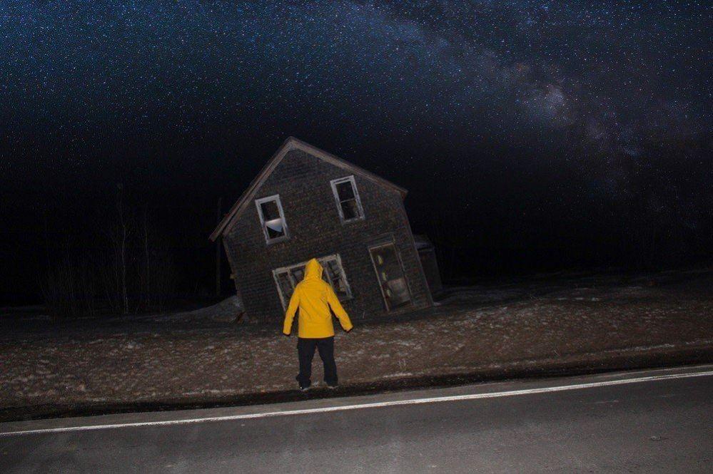 Figure at night