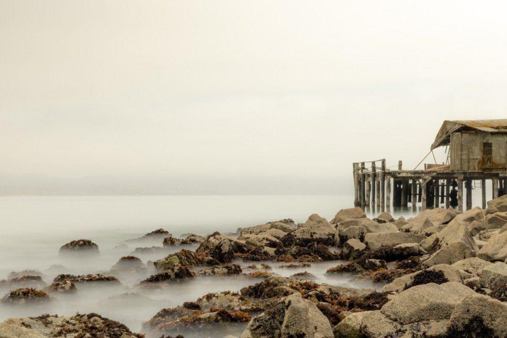 Fishing shack near the sea