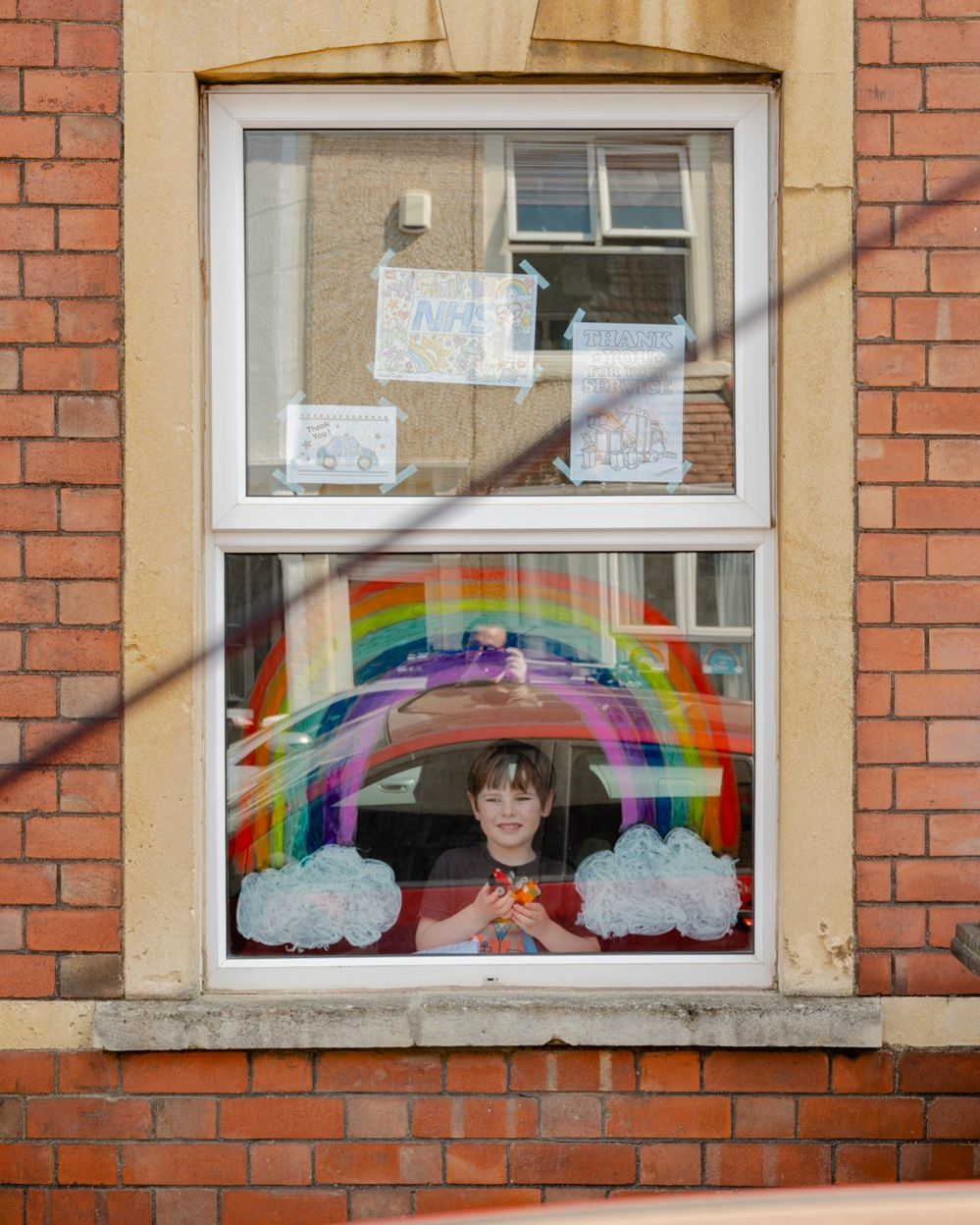 Huey at the window