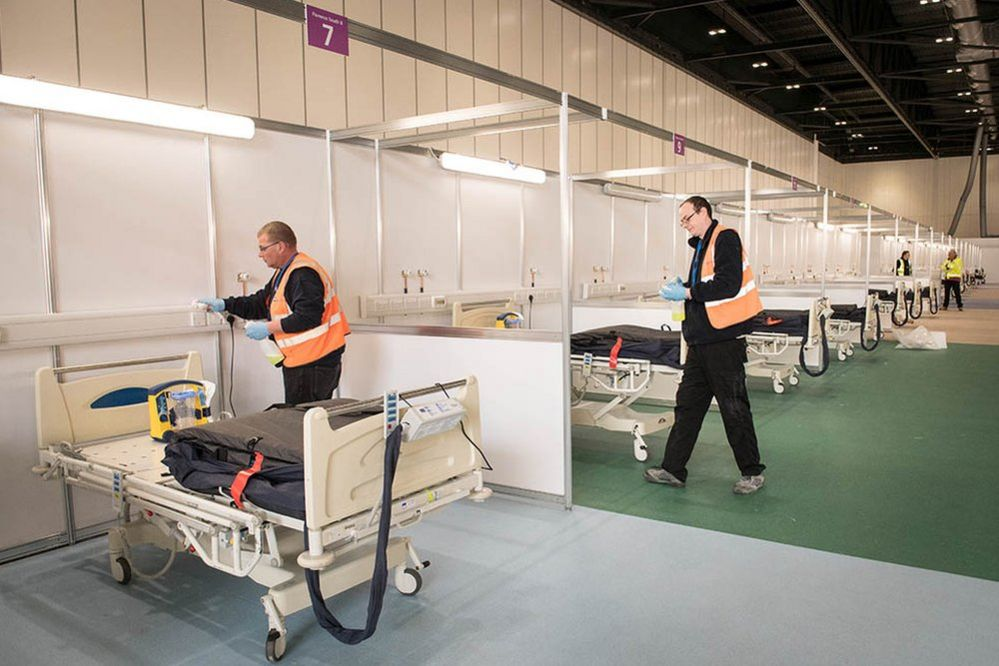 Installing beds in the bays
