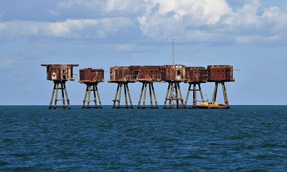 The derelict Maunsell Sea Forts