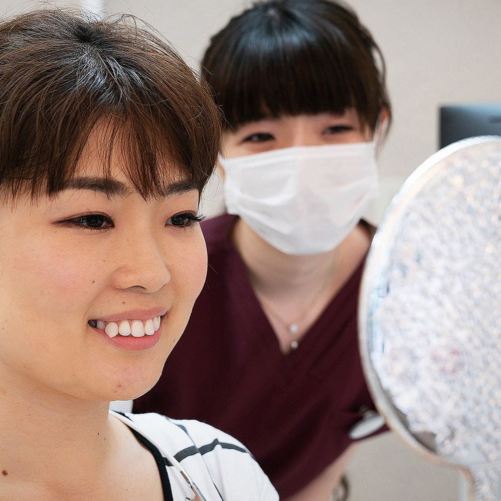 Yaeba tooth at the dentist