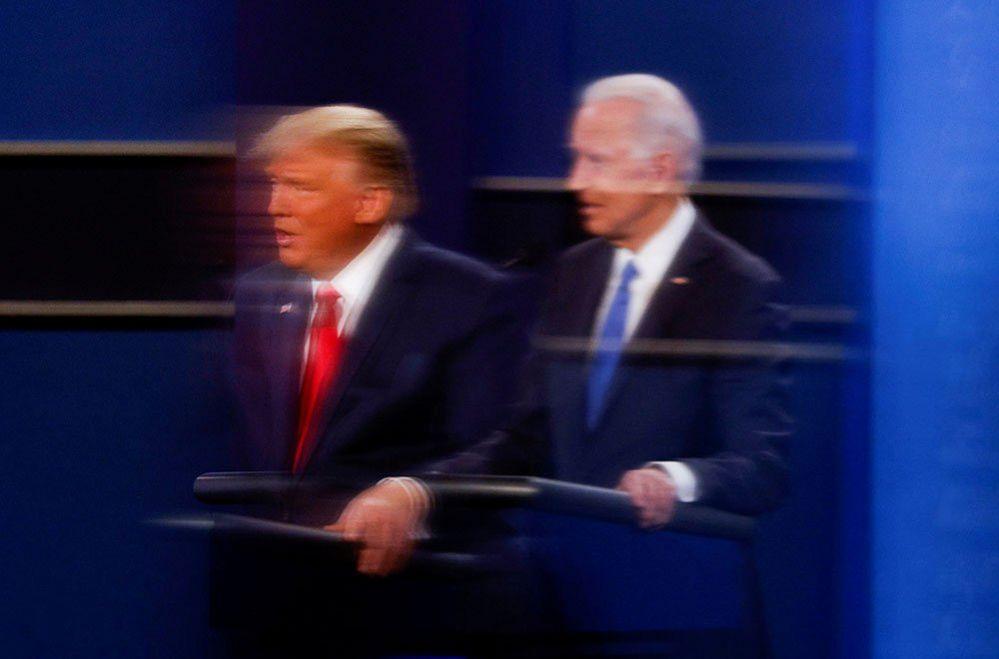 US President Donald Trump and Democratic presidential rival Joe Biden