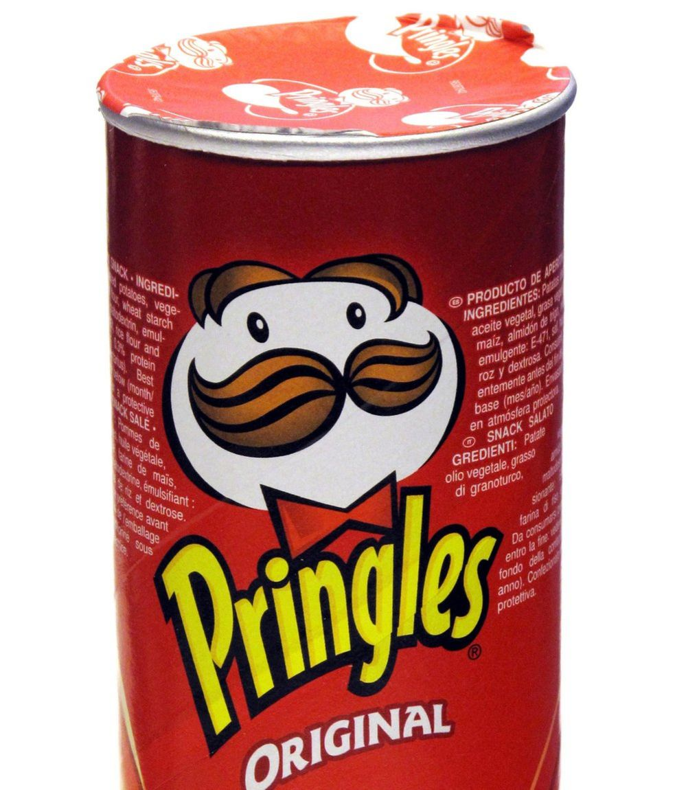 A stock image of a Pringles tube from 2009