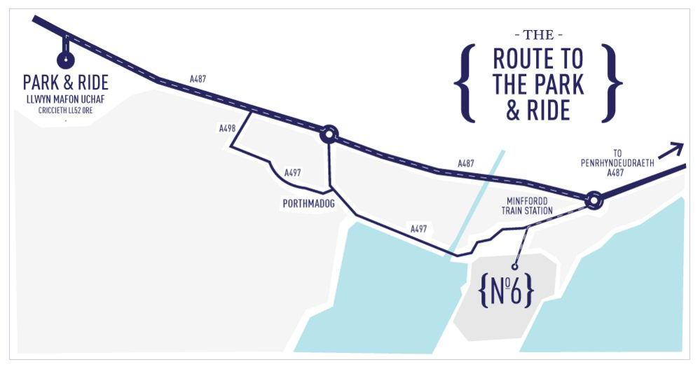Park & Ride map for Festival No. 6