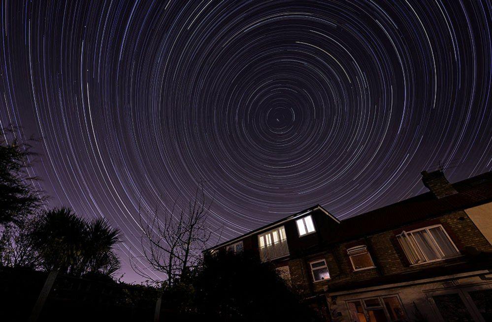 Star trail over Highams Park, London