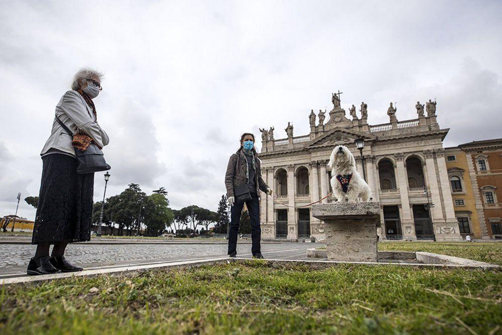 A dog ine Rome