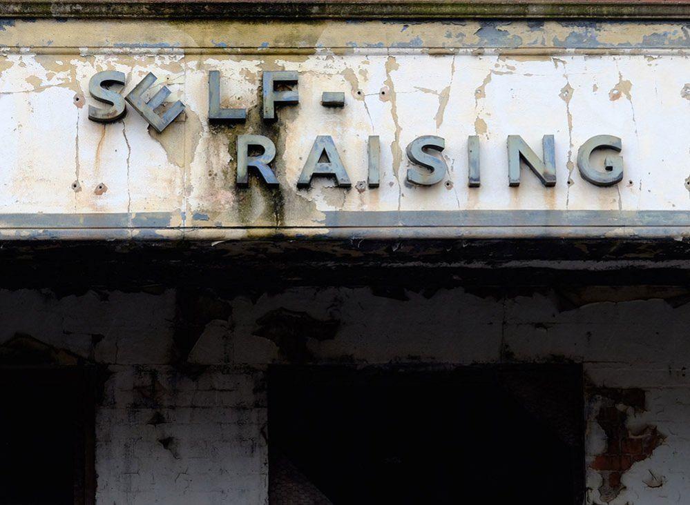Self Raising sign