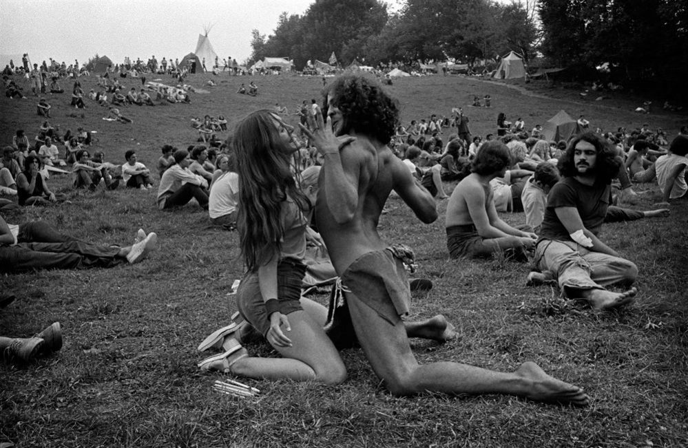 Dancing couple, featured on the cover of Newsweek magazine, Woodstock Festival, Bethel, New York, 1969