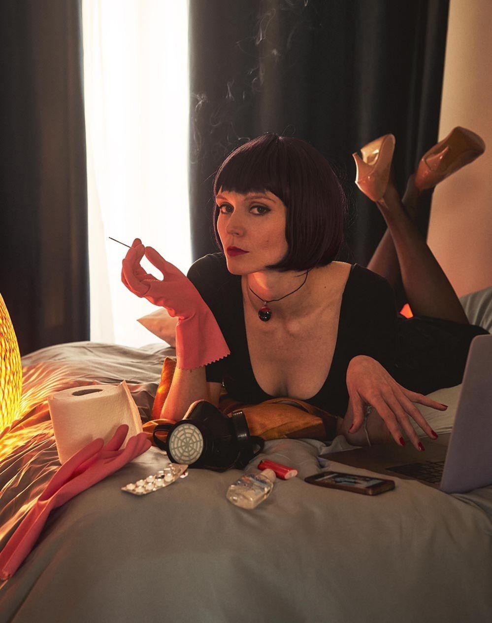 Julia Keil in a scene from Pulp Fiction
