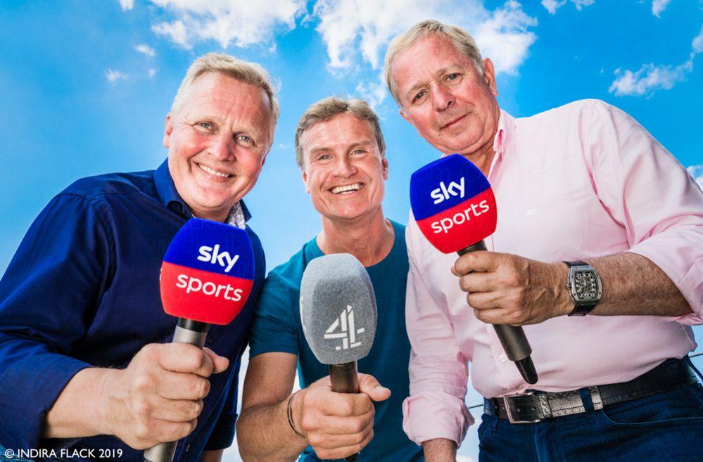 Johnny Herbert, David Coulthard and Martin Brundle