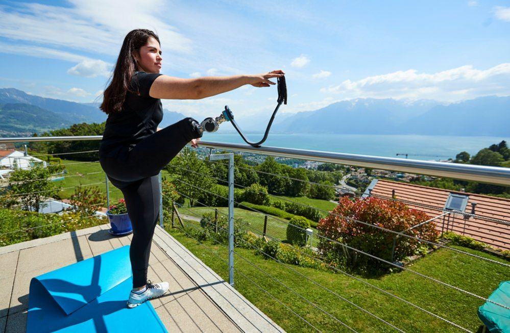 Paralympic athlete Sofia Gonzalez trains in her home garden